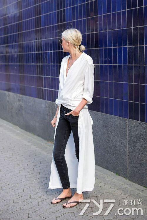 长款白色衬衫怎么搭配 玩转各种最新style